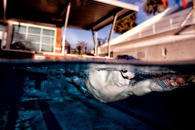 Caeleb Dressel Below the Surface underwater photography Mike Lewis