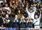 Cal Berkeley Swimming fans by Mike Lewis