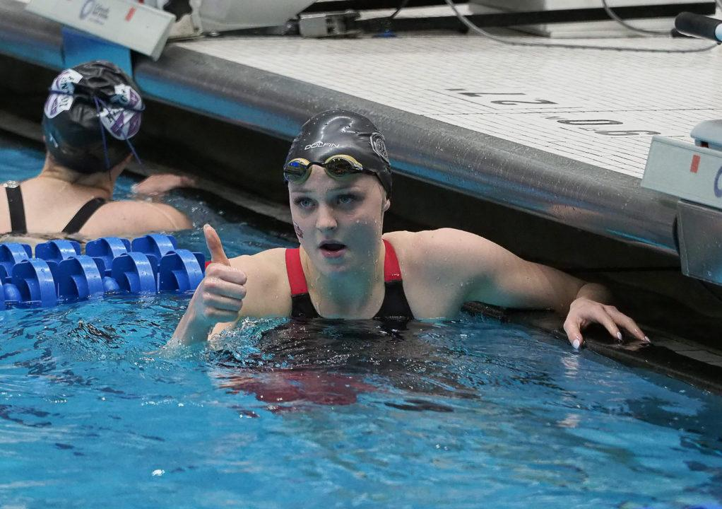KT Kustritz Posts D3-Leading 100 Breast in Tri With Ohio State/Akron
