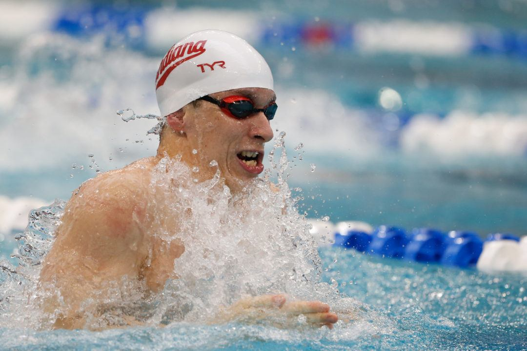 Indiana's Ian Finnerty Rolls to 50.47 100 Breast to Become #3 All-Time