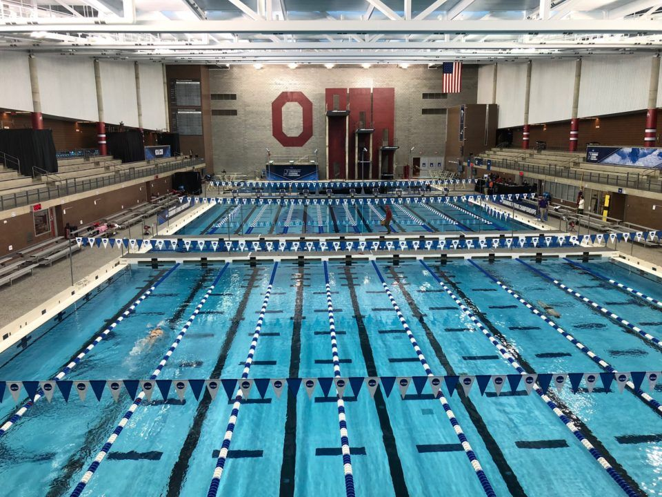 Notre Dame's Hutchinson Drops 5 Seconds in 500 on Day 1 of OSU Winter Invite