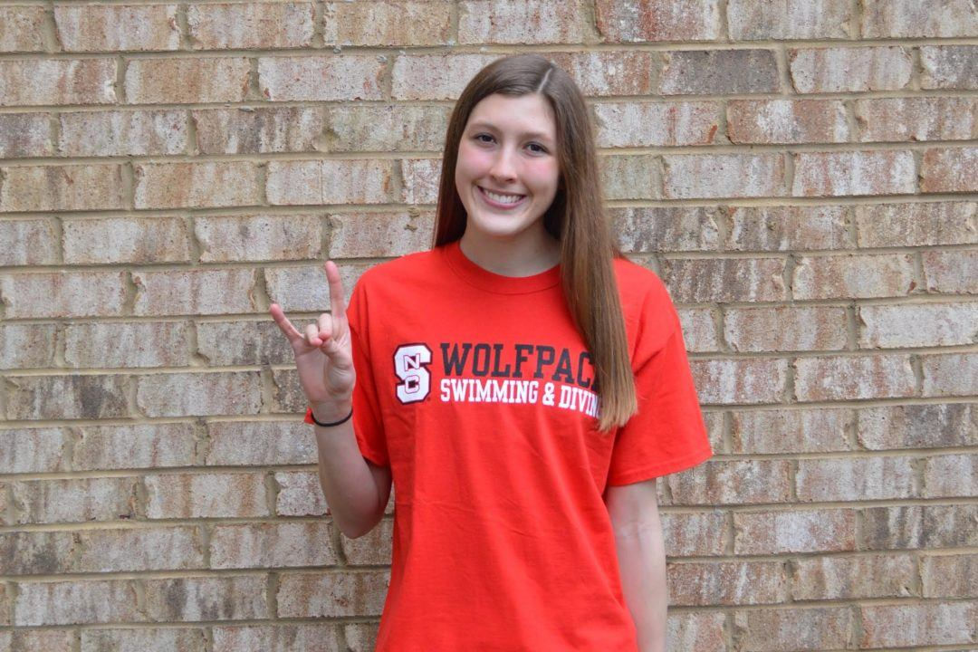 SwimMAC's Maddy Flickinger Hands Verbal Commitment to NC State