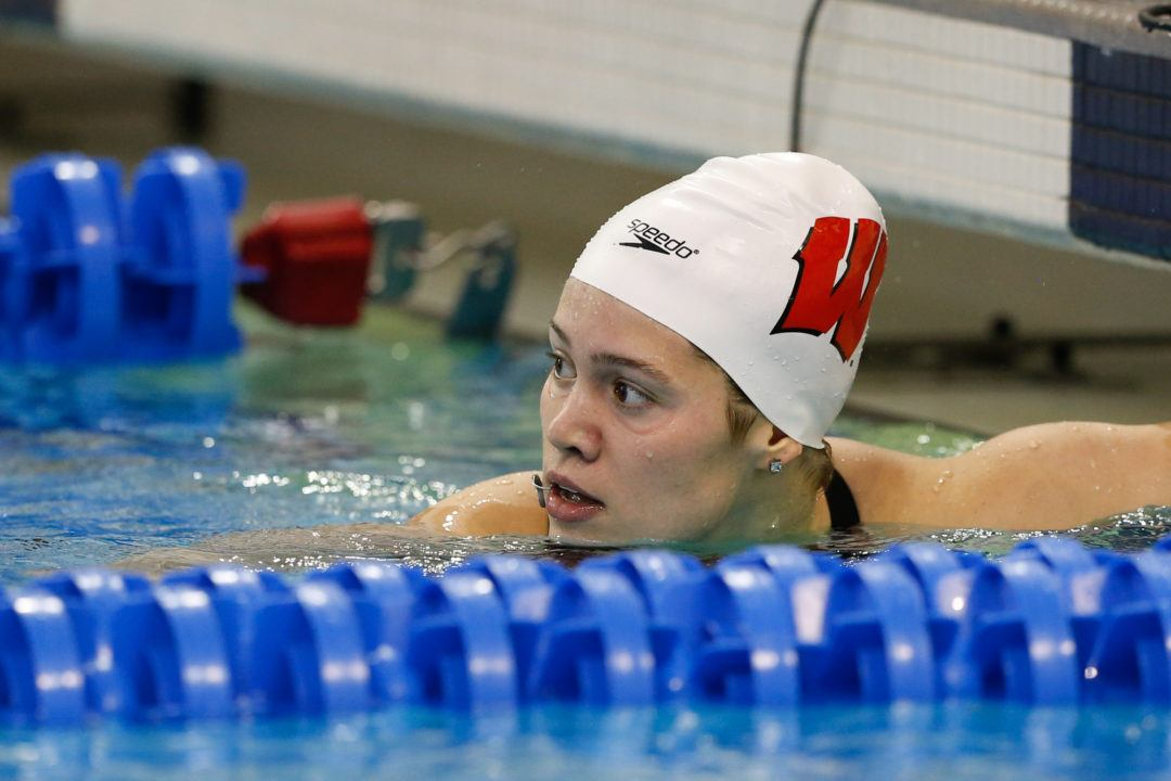 Beata Nelson Hits 53's in 100 Fly, Back as Badgers Drop Green Bay