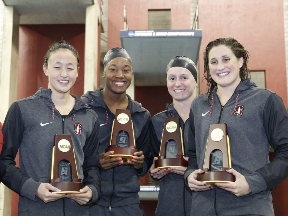 2018 W. NCAAs: Stanford Blasts 400 Medley Relay American Record