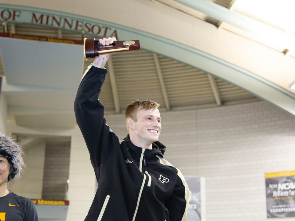 2018 M. NCAAs: Steele Johnson Goes for Broke and Nails His Final 3m Dive