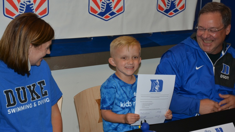 Duke Swimming & Diving Signs Five-Year-Old Brodie Curtis