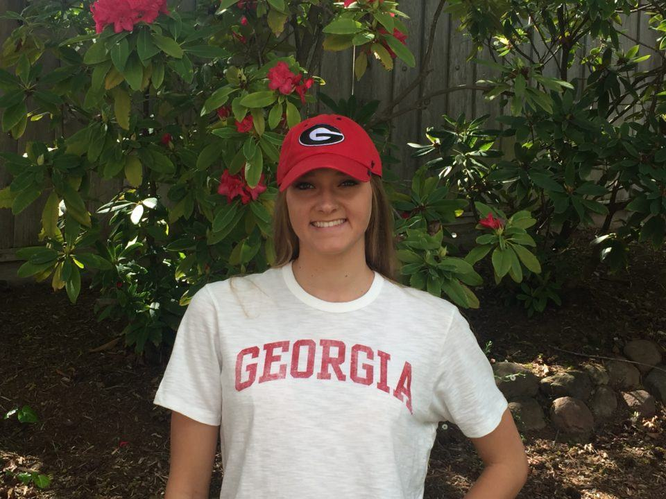 UGA Newcomer Zoie Hartman Sweeps Breast Events as Bulldogs Sweep Alabama