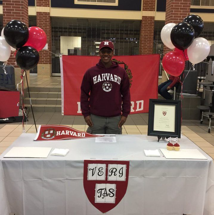 Cypress Fairbanks' Braxton Marion Commits to Swim for Harvard