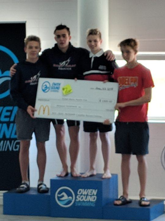 Guelph Marlins Break 2 More Canadian Age Group Relay Records