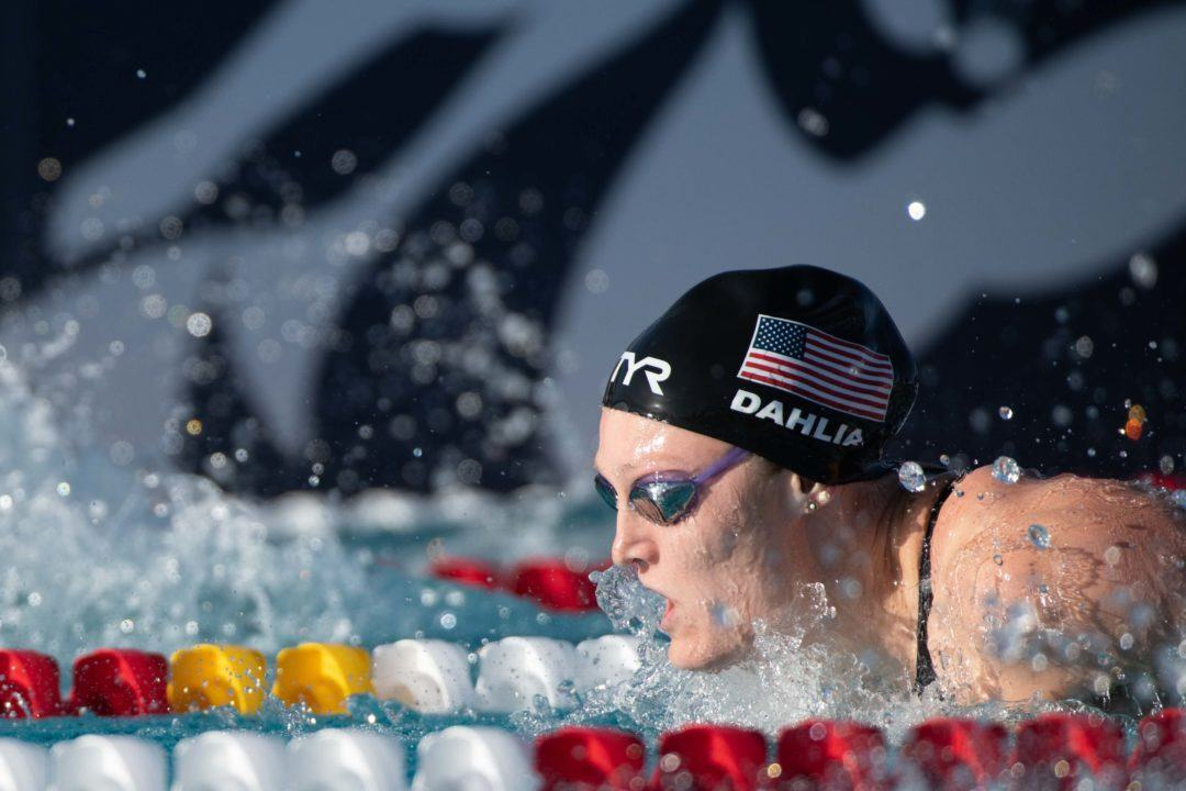 2018 U.S. Nationals Previews: Crowd Behind Dahlia in Women's 100 Fly