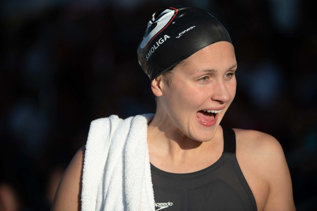 WATCH: Olivia Smoliga Sets American Record in 50 Back