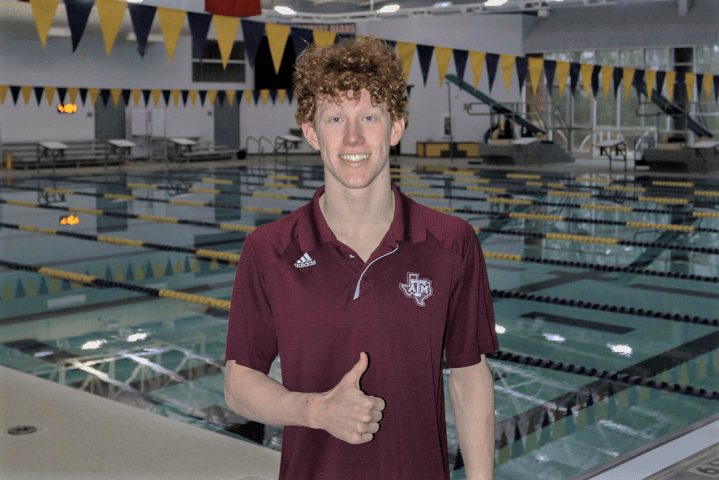 In-state Distance Freestyler Luke Stuart Commits to Texas A&M