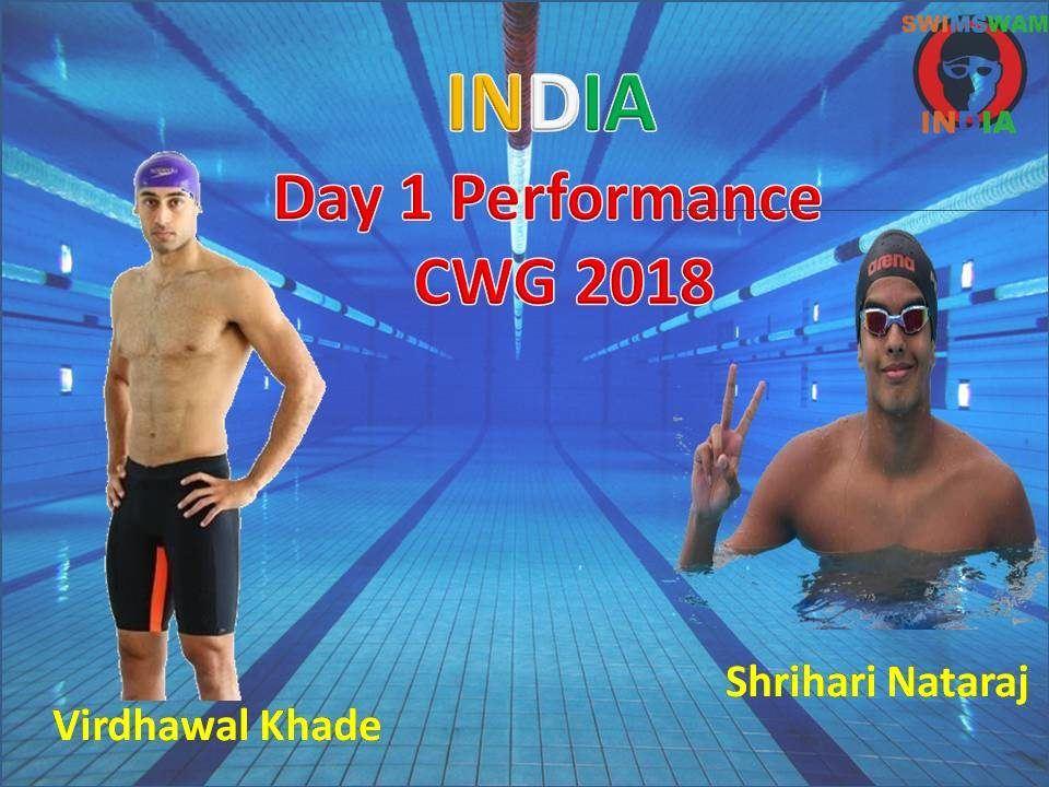 Indian Swimmers Ki Day 1 Ki Performance Report – CWG 2018