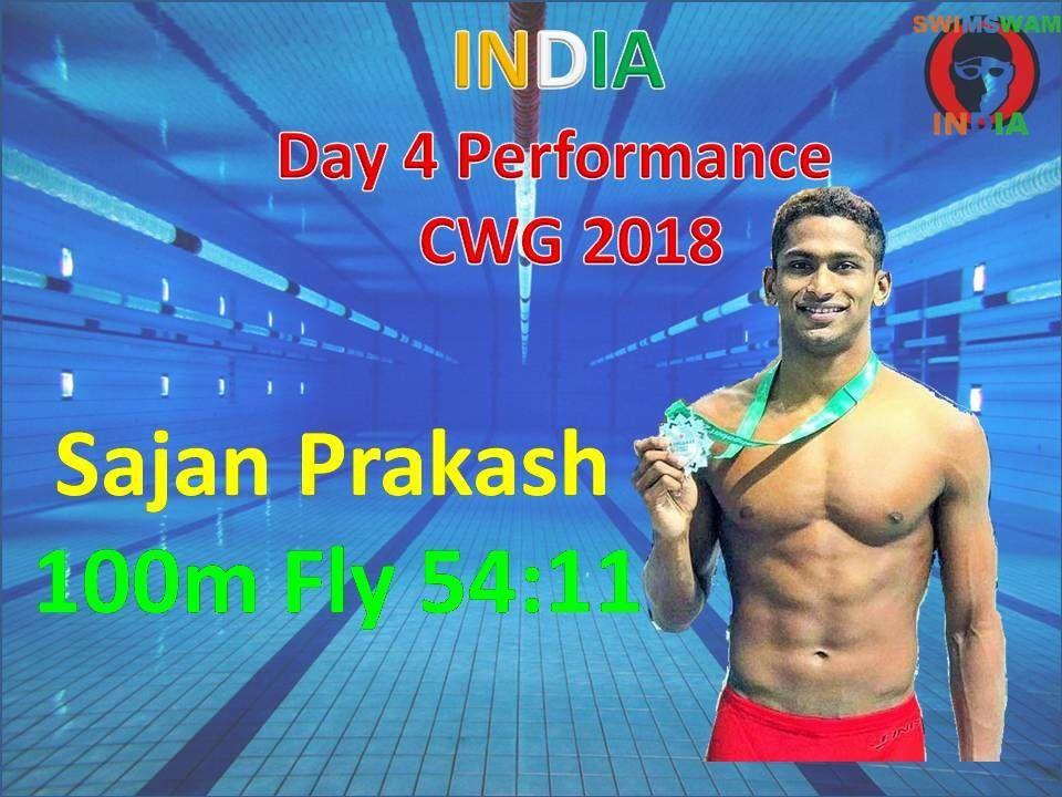 Sajan Prakash Ka 100m Fly 54:11 Sec Me: CWG 2018