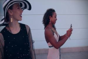 Swimmers Taking Selfies at the Churchill Downs Racetrack (Video)