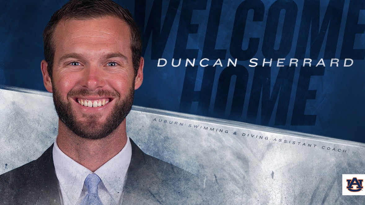 Auburn Hires Duncan Sherrard as First Assistant on New Swimming Staff