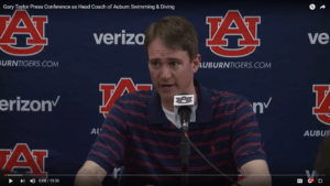 Gary Taylor Out As Auburn Head Swim Coach After Three Years