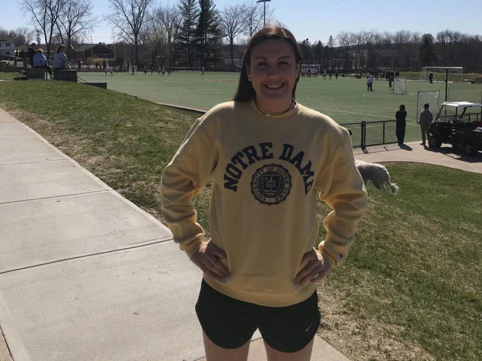 NEPSAC D1 Record-holder Sydney Winters Makes Verbal Commitment to Notre Dame