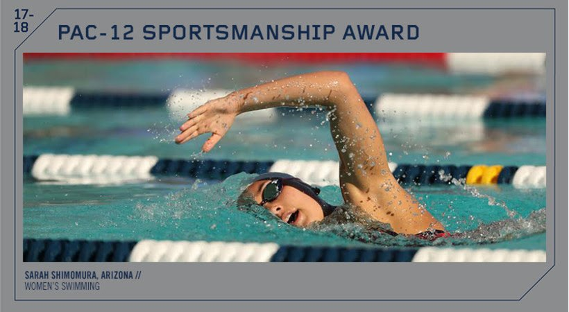 Arizona's Shimomura Awarded 2018 Pac-12 Sportsmanship Award