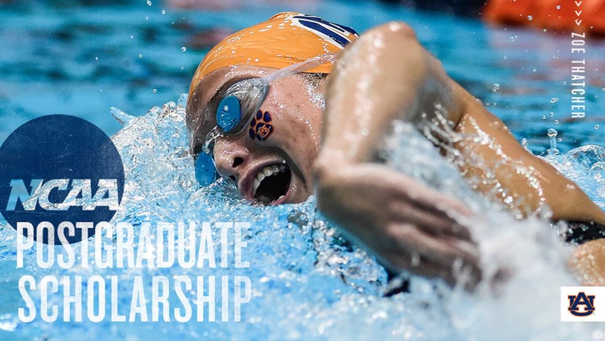 Auburn's Zoe Thatcher Receives NCAA Postgraduate Scholarship