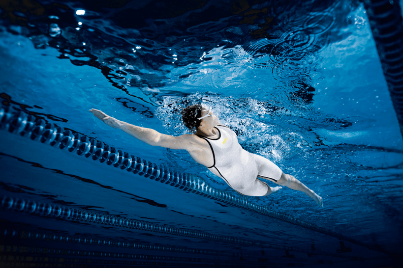 The World's First White Technical Race Suit For Swimmers