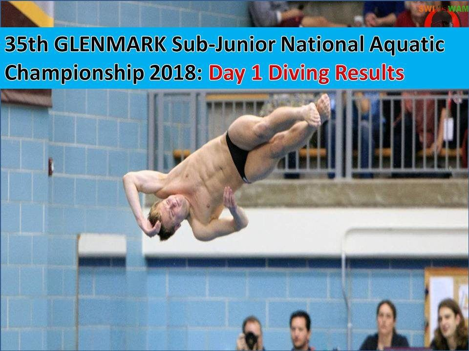 35th GLENMARK Sub-Junior National Championship 2018: Diving Results