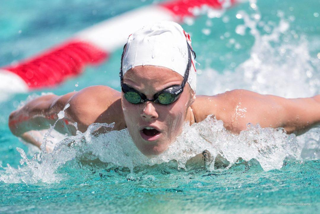 Mabel Zavaros Sweeps Butterfly Races as Gator Women Rout FGCU