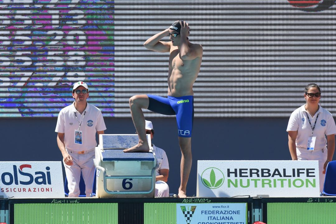 Federico Burdisso Vice Campione Europeo e Record Italiano Junior 200Fa