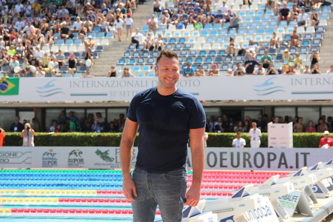 Il Pluri Campione Olimpico Ian Thorpe al Settecolli