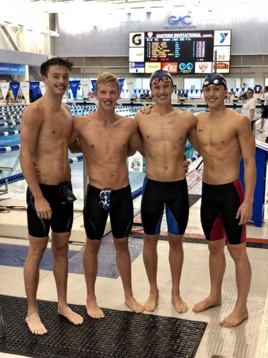 Mason Manta Rays Crack National Age Group Record In 200 Medley Relay