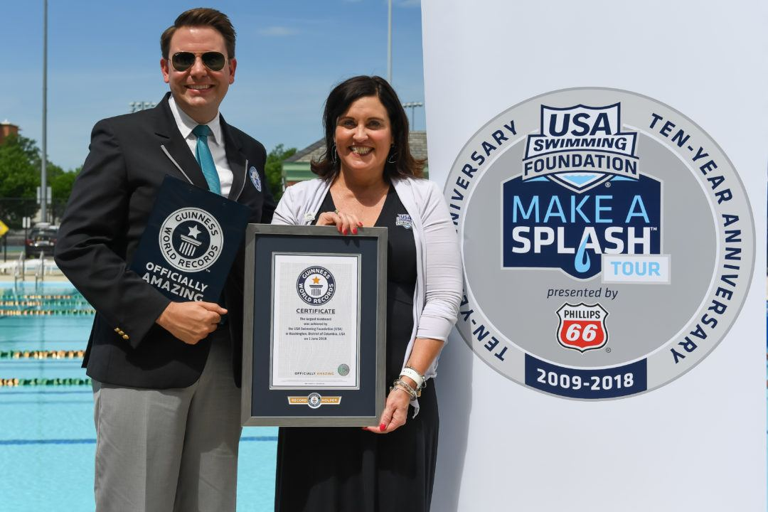 USA Swimming Foundation Sets GUINNESS WORLD RECORDS® for Largest Kickboard