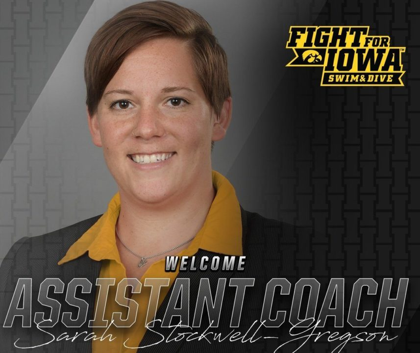 Stockwell-Gregson Named Assistant Coach at Iowa
