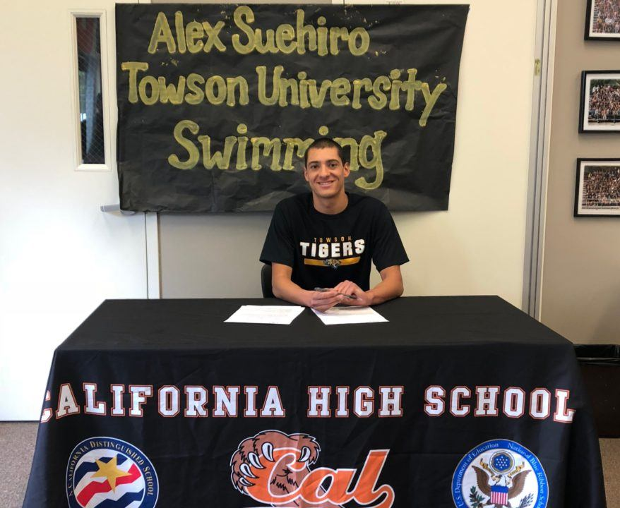 Crow Canyon Breaststroker Alex Suehiro Commits to Towson Tigers