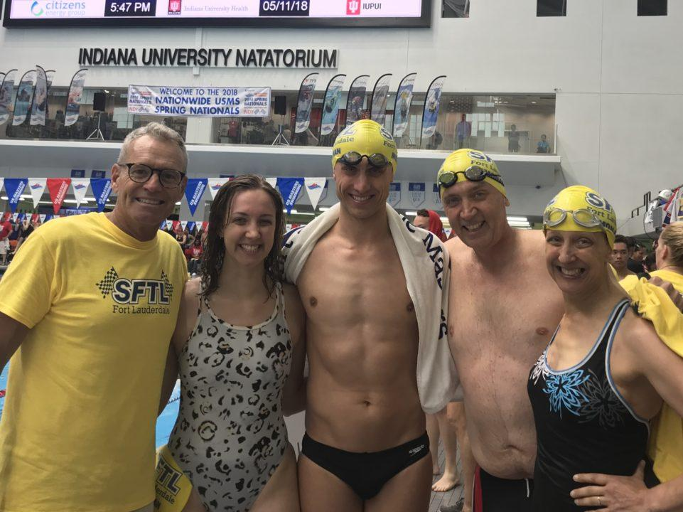 All in the Family: Monahans Put Together Medley Relay at Masters Nats