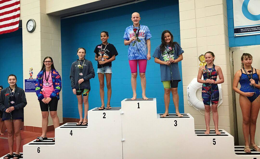 Leah Hayes Swims #3 All-Time 11-12 Girls 100 Free At IL AGC's