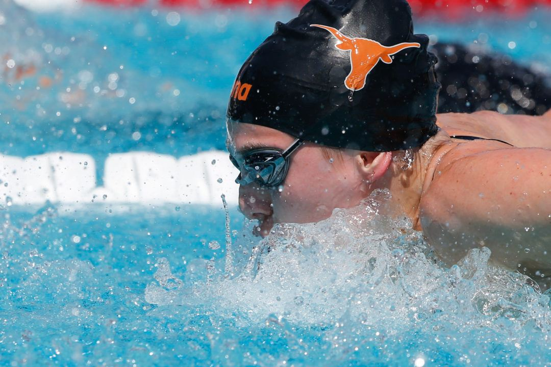 Texas Women Swim Season Best 1:37.08 200 Medley Relay at Big 12 Time Trials