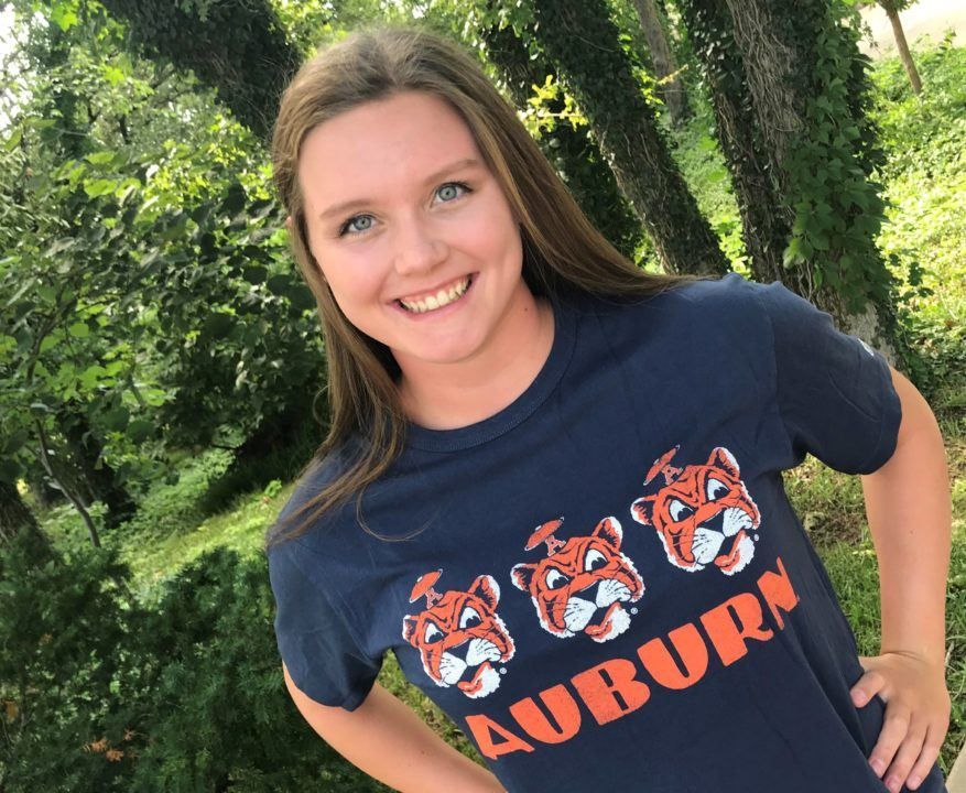 Auburn Scores Verbal Commitment from OK State Record-holder Hanna Newby