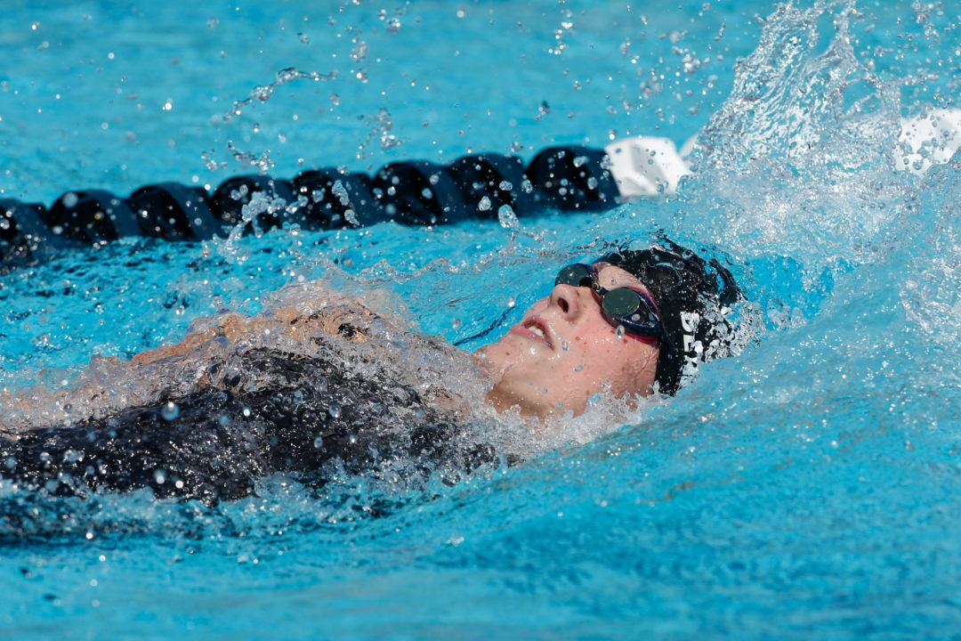 Katharine Berkoff Downs WUG 100 Back Record in Prelims with 59.57