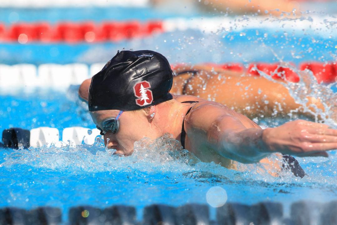 Ella Eastin Breaks 3 Pool Records as Stanford Finishes 7-0