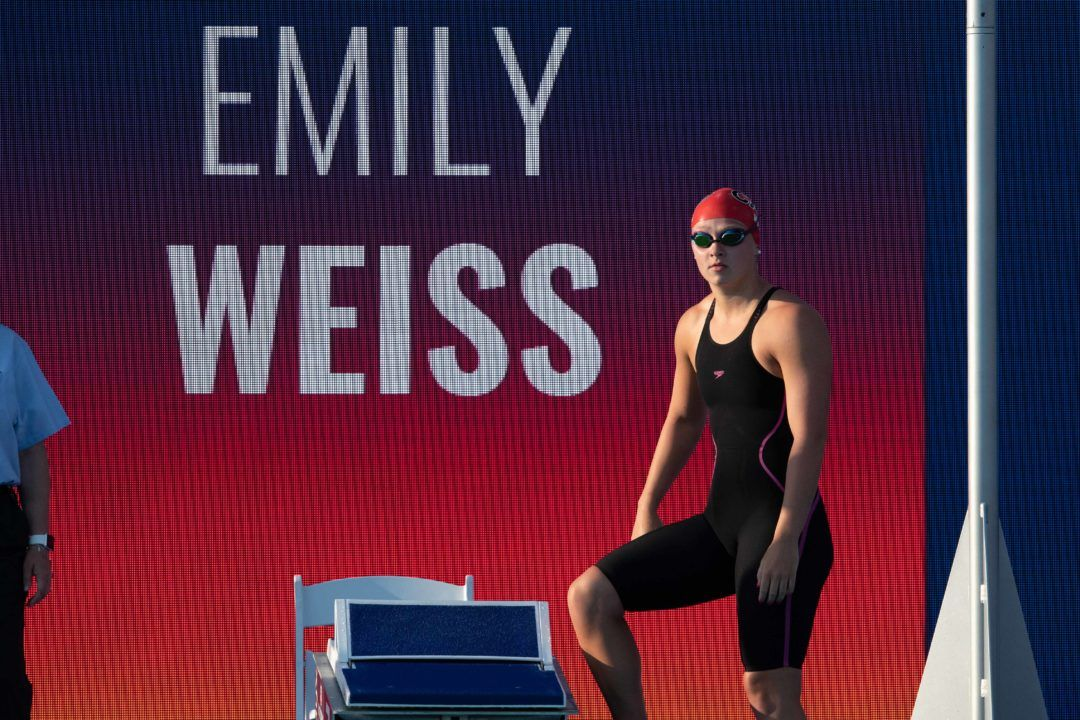 Emily Weiss Makes U.S. National Team With Jr Pan Pacs 100 Breast Swim
