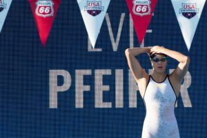 Evie Pfeifer Drops 200 FR To Defend Top 400 IM Prelims Seed in Clovis