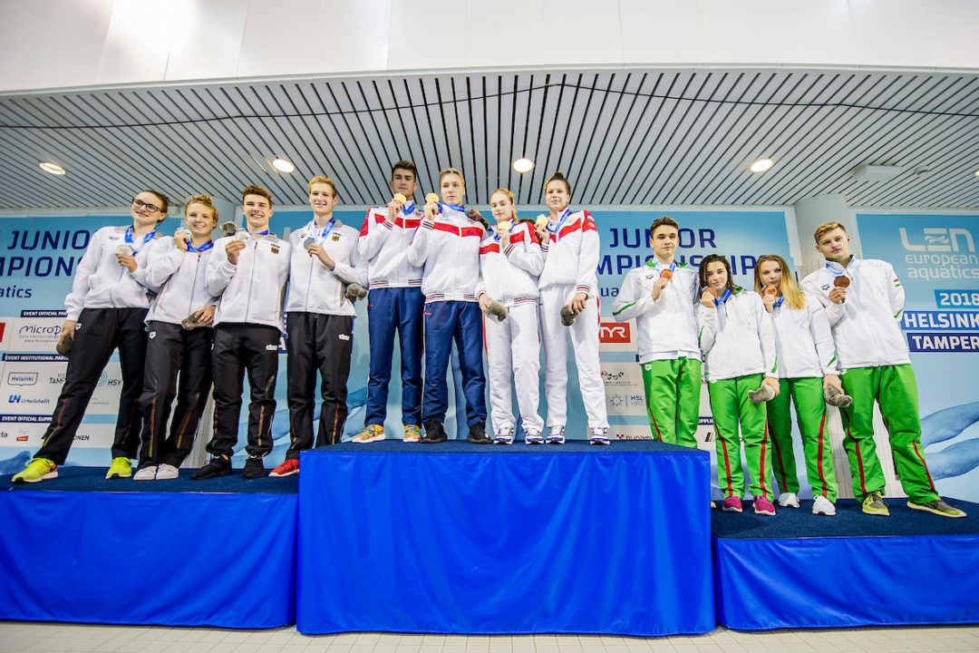 German Junior Relay Breaks Senior National Relay Record in Helsinki