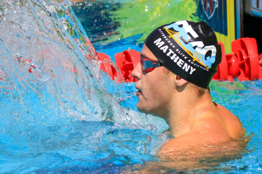 Josh Matheny Overtakes Michael Andrew's 100 Breast NAG For 15-16 American Men