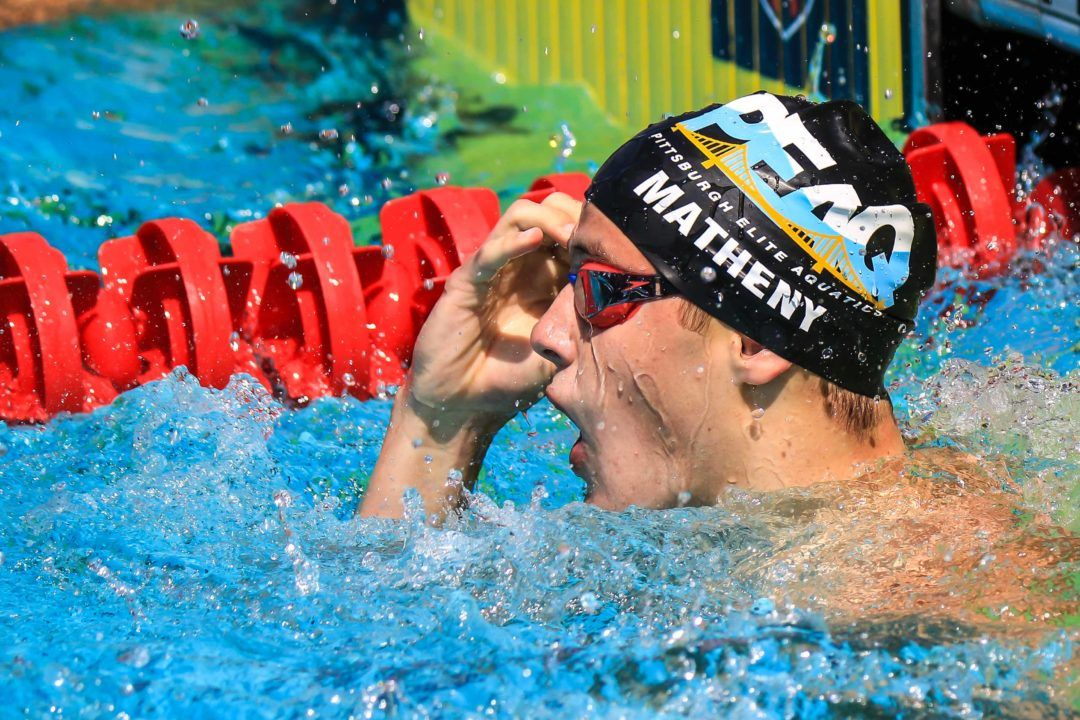 16-Year-Old Matheny Crushes 2:09.40 200 Breast For World Juniors Gold