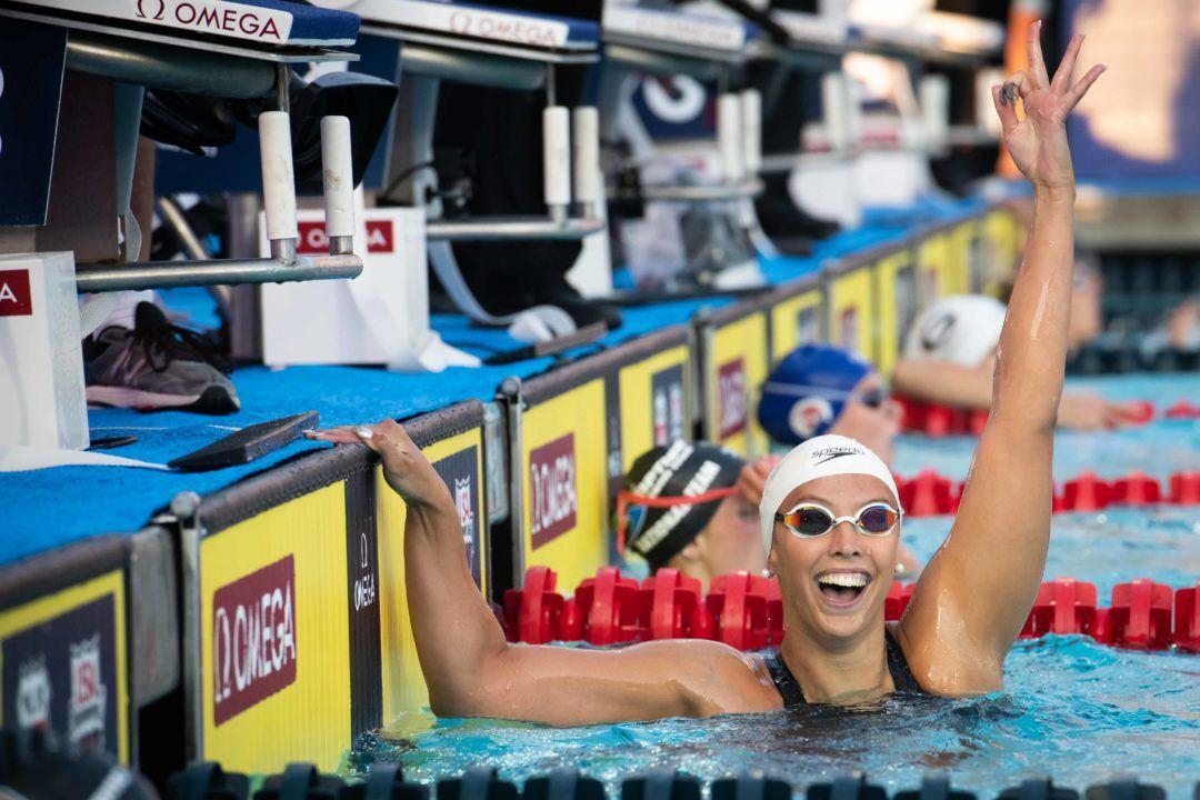 Kathleen Baker schwimmt neuen Weltrekord über 100 m Rücken