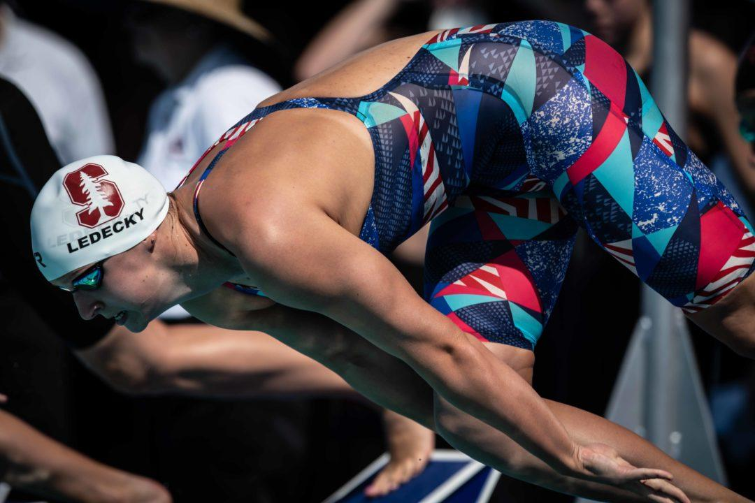 Katie Ledecky Scratches 100 Free Final on Day 1 of U.S. Nationals