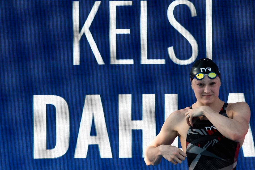 Kelsi Dahlia Ties Her Own American Record in 50 Fly