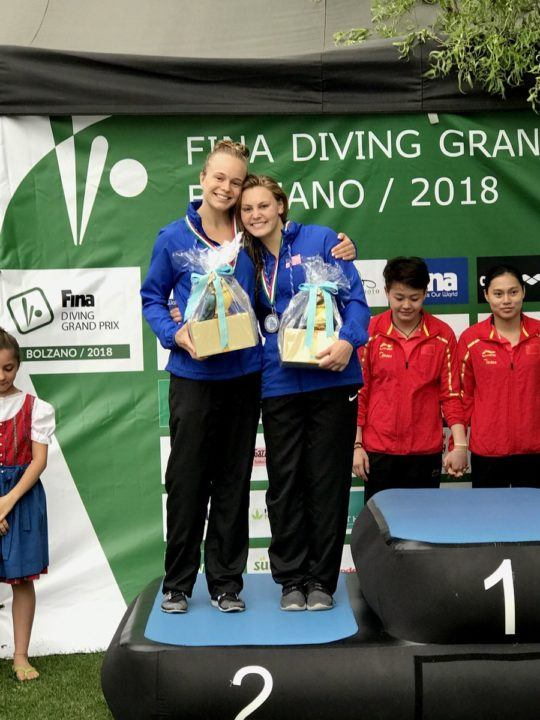 Gibson, Palmer Clinch Silver on Day One of FINA Grand Prix