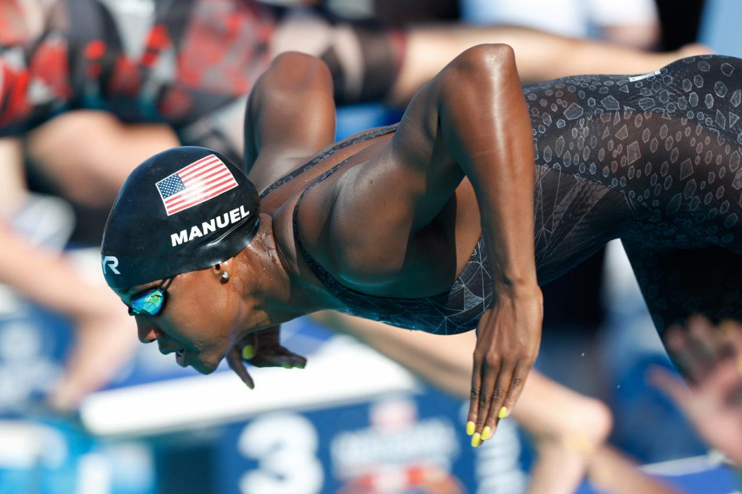 Simone Manuel Breaks Decade-Old U.S. Open Record in 50 Free