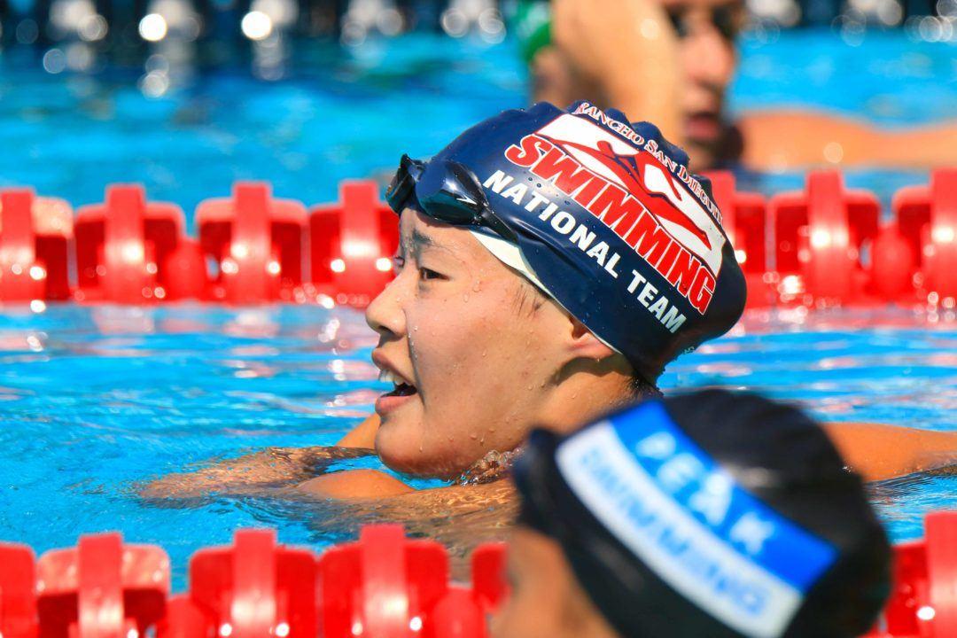 UCLA Freshman Rachel Rhee Nearly Sets PR in 100 Free in Win Over Arizona